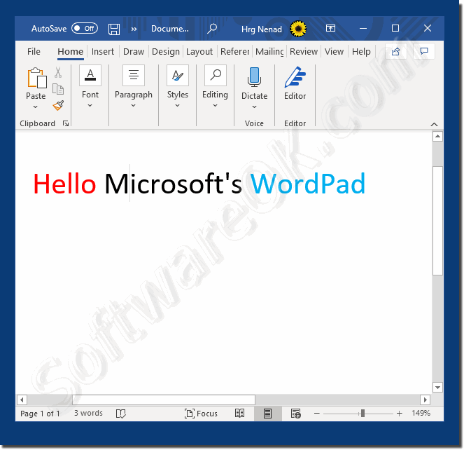 Download free text editing program for Windows!