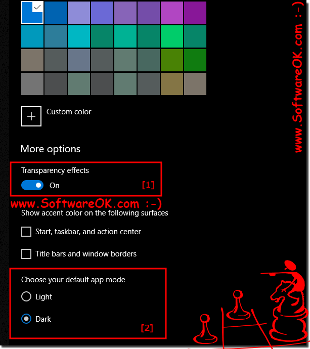 Dark and Light mode on Windows 10 with window Transparency!