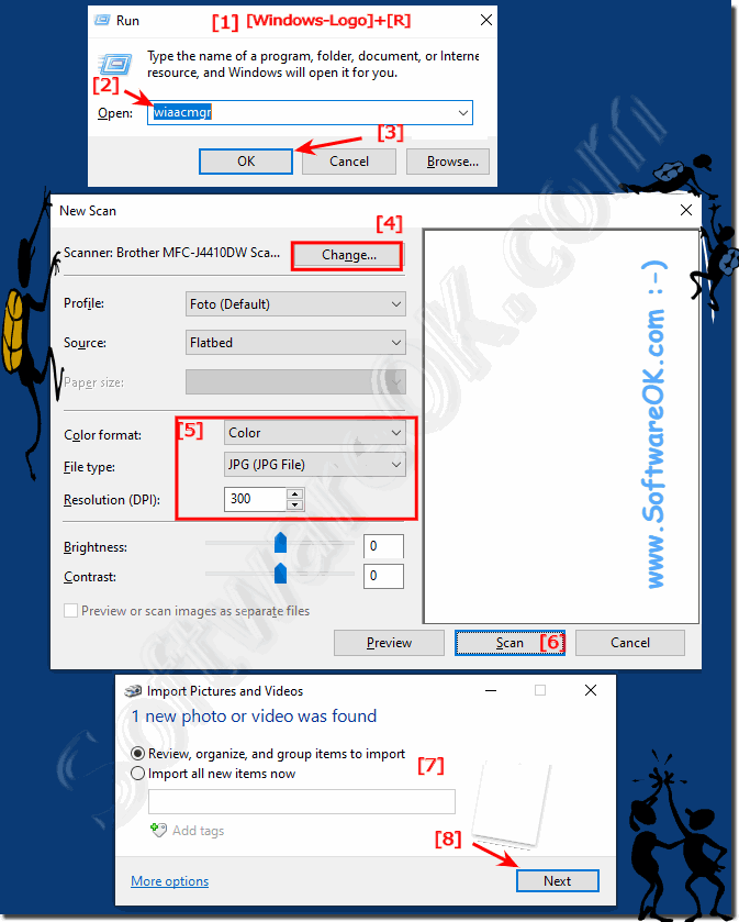 Easy start New Scan Wizard under Windows 10 direct!