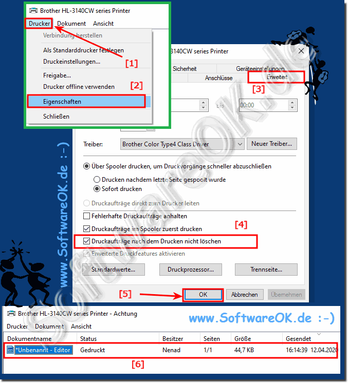 Activate history / history of the printed document in Windows 10, 8.1, 7!