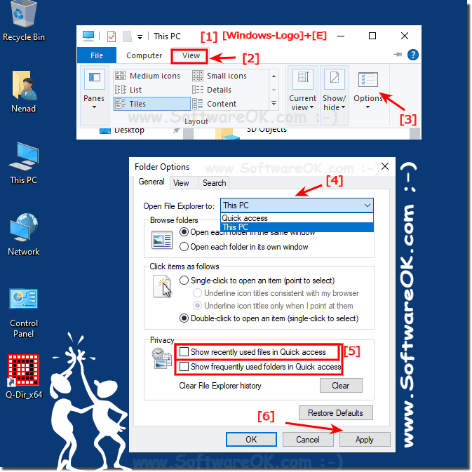 Disable Quick Access in File Explorer on Windows 10!
