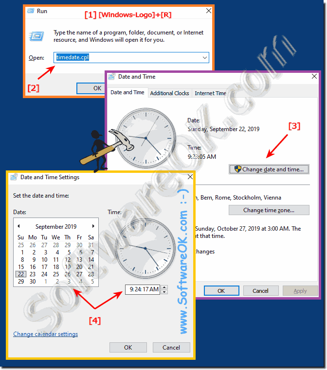 Quickly Change Current Time on you Windows 10!