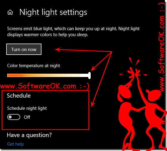 Color temperature and night mode settings!