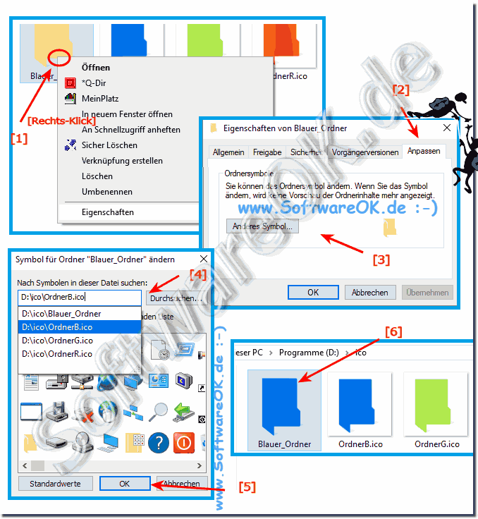 Change the Windows folder icons RGB color!