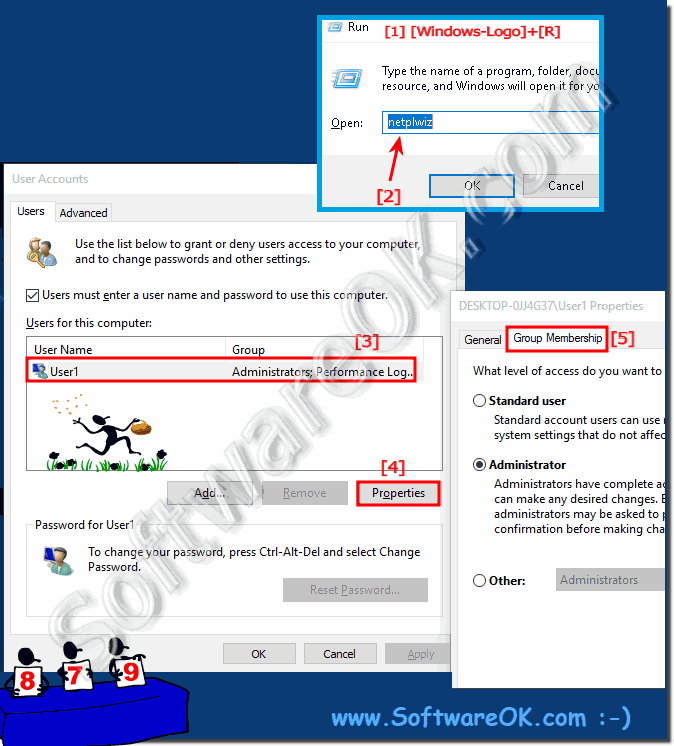 Change the user accounts privileges on Windows 10!