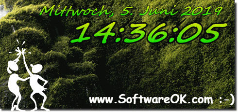 Digital Clock on Surface Pro Win 10 and Windows 7 Background