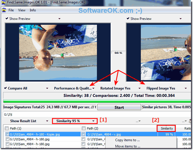 Find similar or identical Photos under Windows!