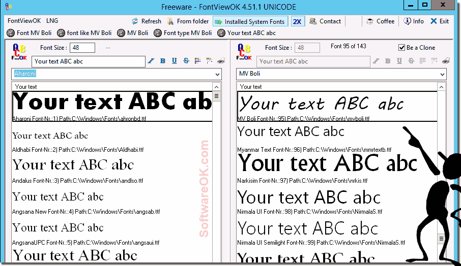 Windows Font Compare!