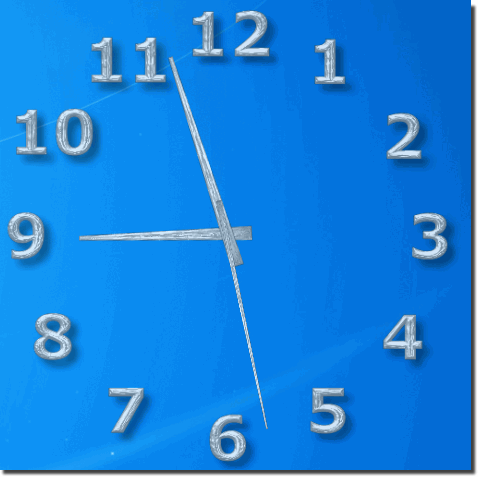 Silver-Desktop-Clock without Transparency!