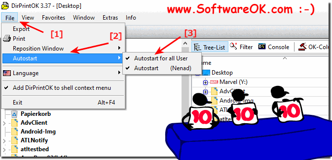 Activate or Turn-Off folder printout from auto startup in