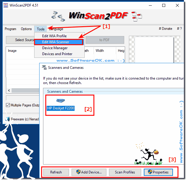 WinScan2PDF and WIA (Windows Image Acquisition / Capture!