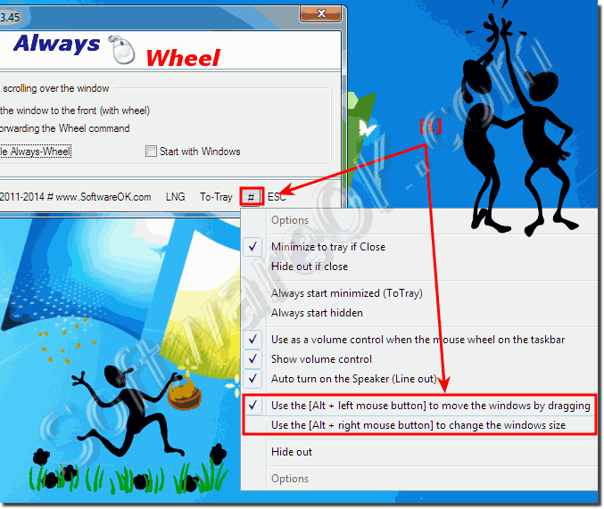 Disable ALT DRAG feature in AlwaysMouseWheel!