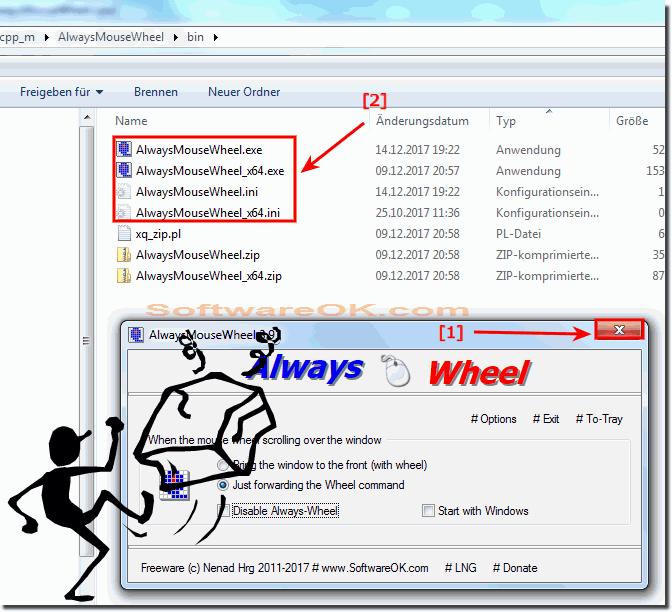 Uninstall Always Mouse Wheel  from Windows!