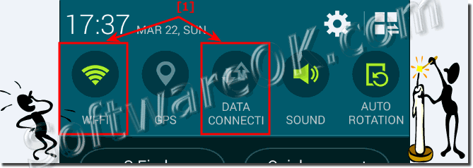 Your Android device does not support data connection error message