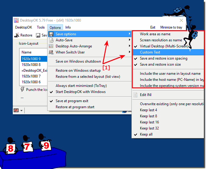 Why DesktopOK save the wrong resolution of the Desktop?