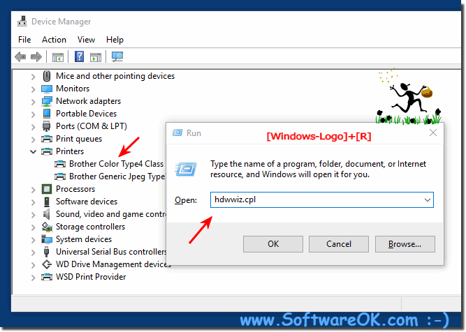 Find the  printer in Device Manager!