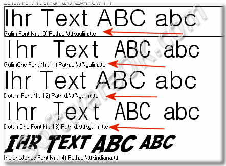 How can i view * ttc fonts in not Windows Font folder?