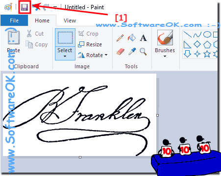 Save own signature as an image file!