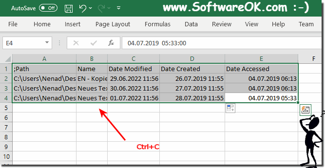 import file times from Excel!