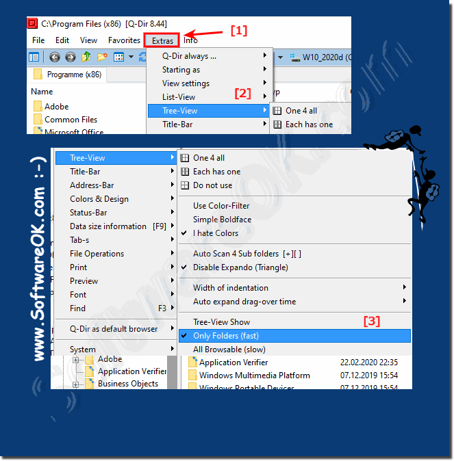 turn off seeing zip files in the tree view