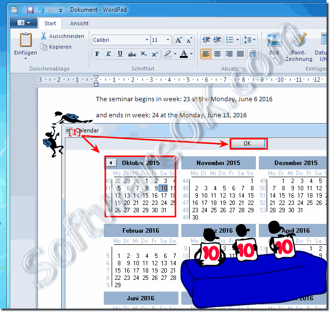 Calendar Dialog in Quick-Text-Paste!