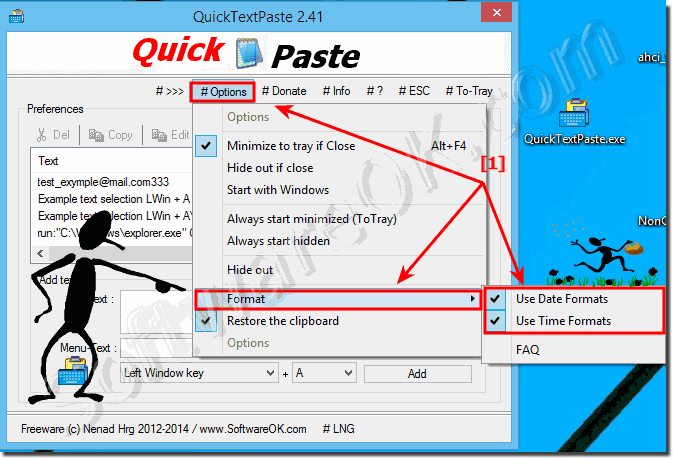 Date Time Format in QuickTextPaste