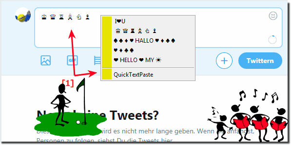 Insert unicode on Twitter from a character set!