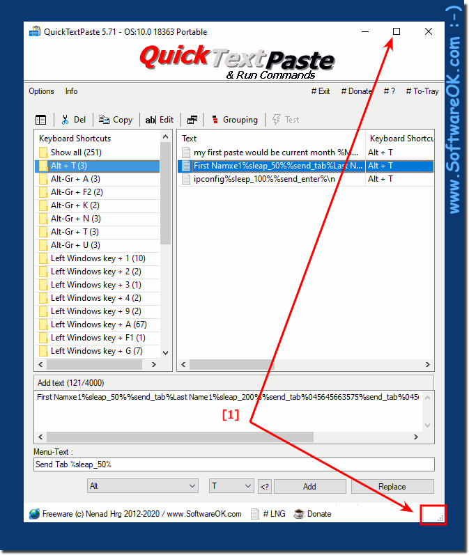 Maximize List-View in Quick-Text-Paste!