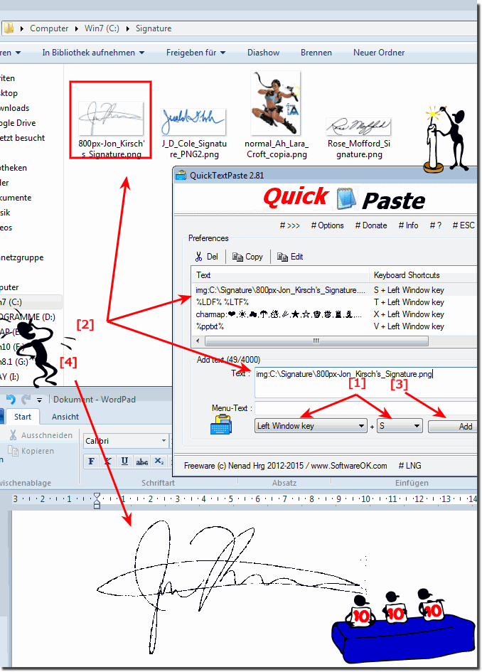 Example how to paste a signature to wordpad shortcut paste images via image path to a active program via windows clipboard ccuart Images