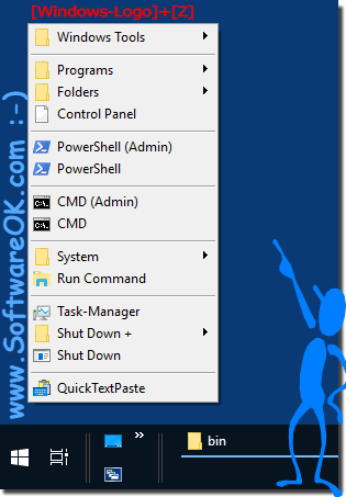 Windows-Z alternative to Windows-X Menu!
