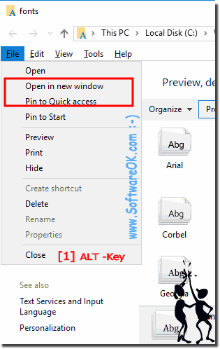 Font Folder Pin to Quick-Access or Start-Menu!