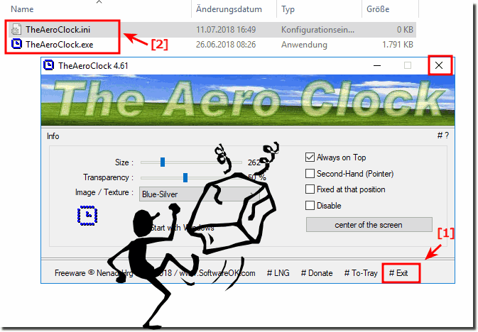 Uninstall The-Aero-Clock from Windows-10!