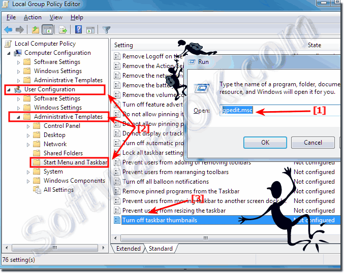Disable or Enable taskbar thumbnails in Windows!