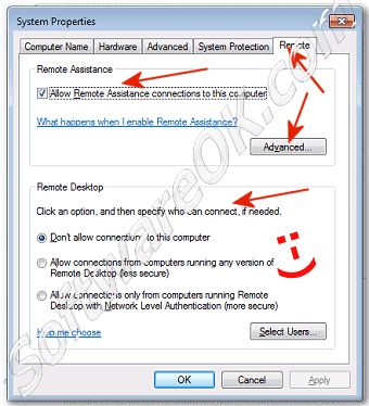 Change Remote Assistance connections settings in Windows-7