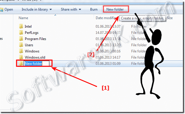 New Folder Hotkey in Windows 7 in Windows Explorer!