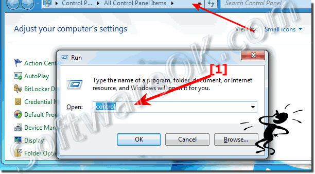 how do i open control panel in windows 7