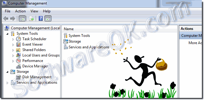 The Computer Management in Windows-7!