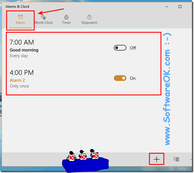 Set Countdown Timer and use Stopwatches in Windows 10, how to?