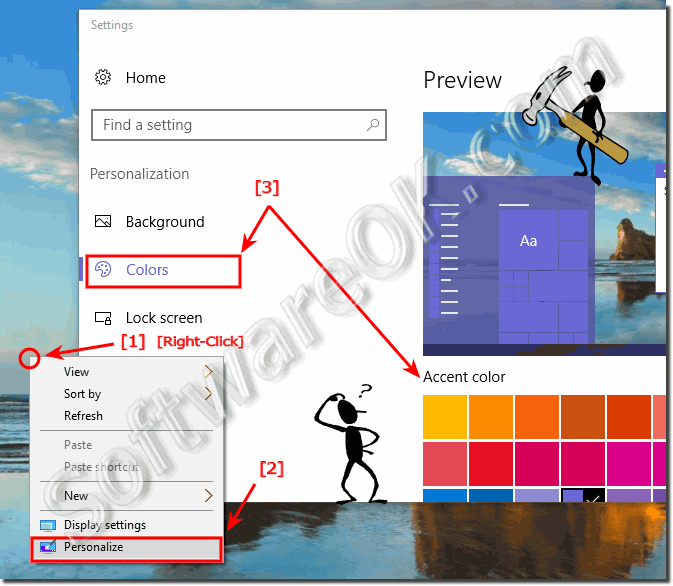how to change windows colors in windows 10