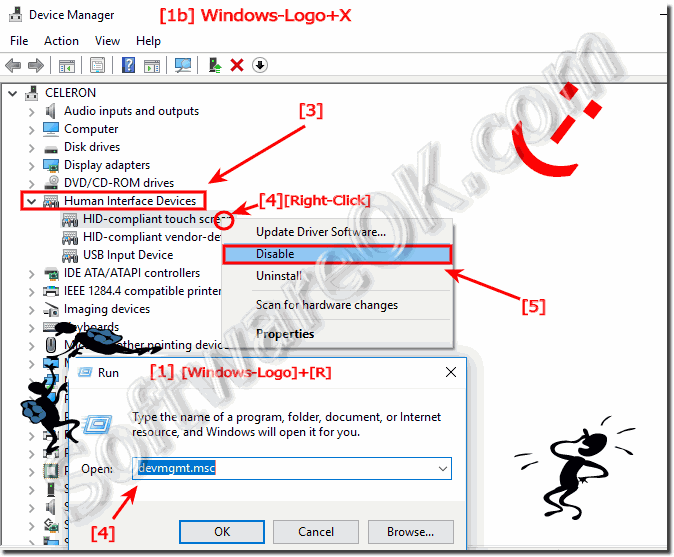 Disable or enable touchscreen on Windows-10!