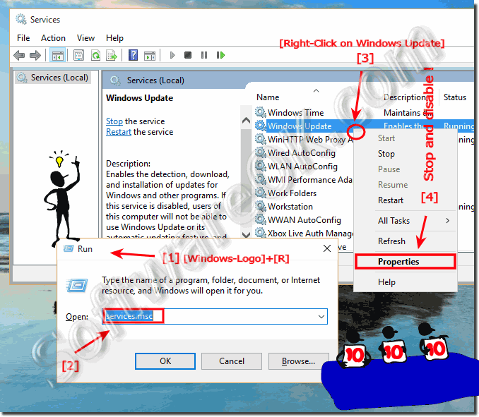 Disable the Auto-Update in Windows 10!