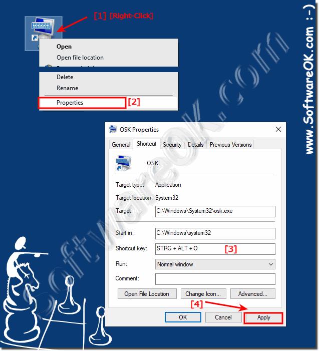 a0a516d54e8 Virtual on screen keyboard windows 10 Desktop shortcut, how to?