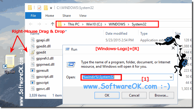 gpo create shortcut on desktop windows 10