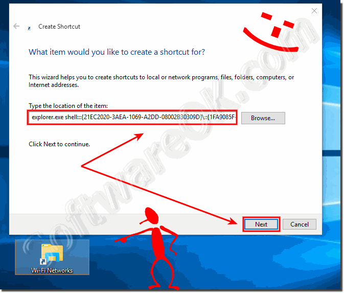 Manage Wireless Networks Windows Desktop Shortcut!