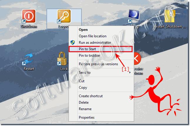 Shutdown - Restart shortcut Windows 10, how to create?