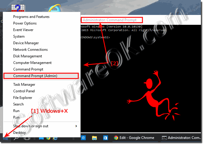 Run Windows 10 command prompt (cmd exe) in administrator mode