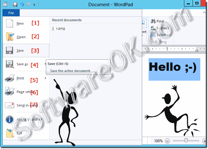 Where is the wordpad in windows 10 how to open the writer save new open in word pad a document ccuart Images