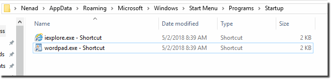 where is windows startup folder