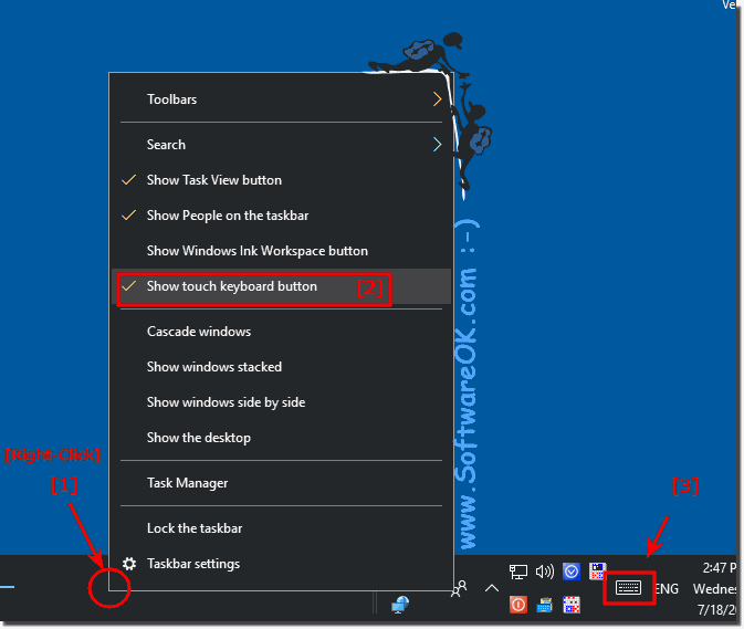 deactivate touch keyboard windows 10