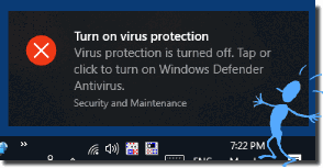 Turn on virus protection!
